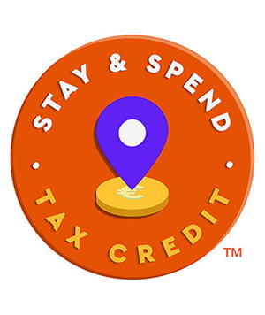 Stay and spend tax credit logo